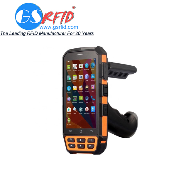 Portable wireless WIFI / GPRS / 4G / rfid / barcode uhf handheld reader Android