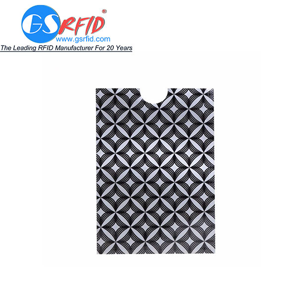 GS1103 Plastic PE RFID Blocking Sleeve For Credit Cards