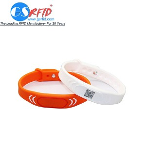 RFID Waterproof silicone wristbands fitness gym bracelets
