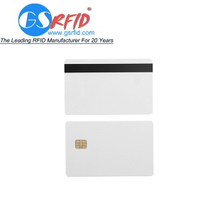 Contact IC Card SLE5542 & SLE4442 card with magnetic strip