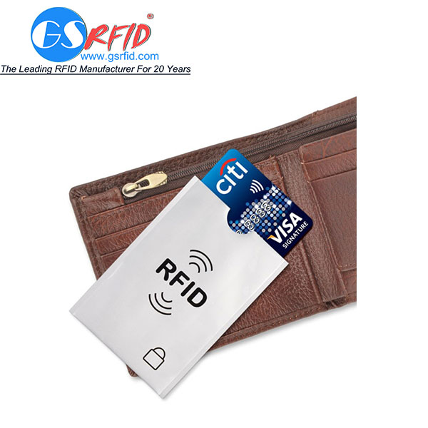 GS1102 RFID Blocking Sleeve With Aluminum Foil And Coated Paper
