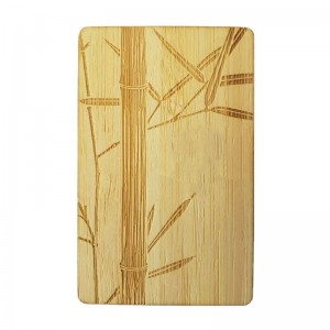 RFID wooden hotel room key card with Mifare 1k chip