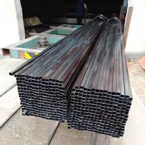 iron straight welded 40×40 ms square steel pipe