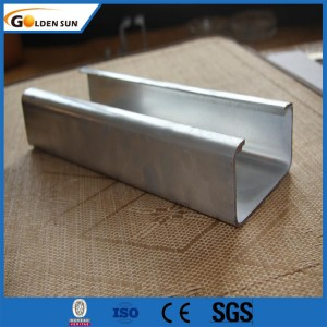 Building 10ft Bolt Hole Base Punched Metal Sheet Light Custom Galvanized Stainless Steel Channel