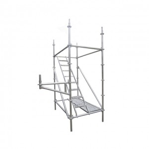 Ladder ring lock scaffolding