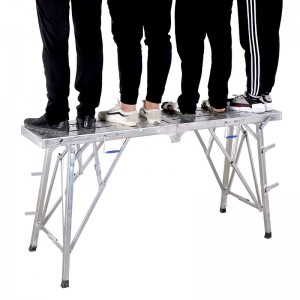 Steel folding portable work platform