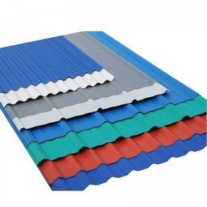 Galvanized Corrugated steel /iron roofing sheets color coated sheet price
