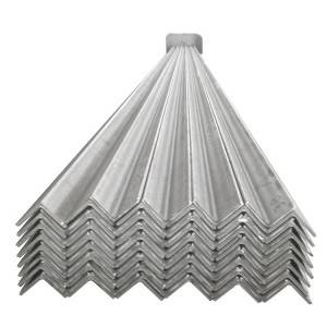 Galvanised angle bar Hot dipped hot gi galvanized angle steel with iron bar prices slotted angles