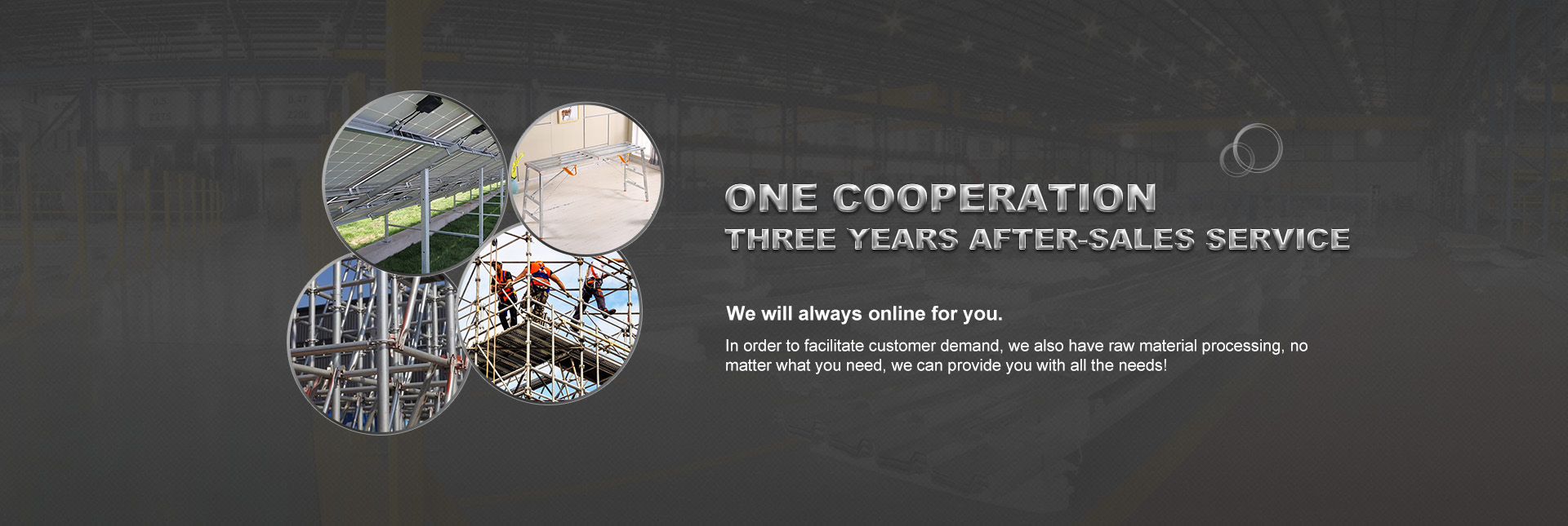 One cooperation, three years after-sales service