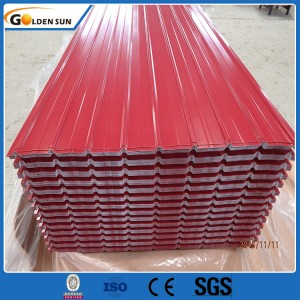 2019 Good Quality Color Coated Galvanized Steel Corrugated Roofing Sheet As Ral 3002 Astm A527 A526 G90 Z275 Tin Zinc Plate