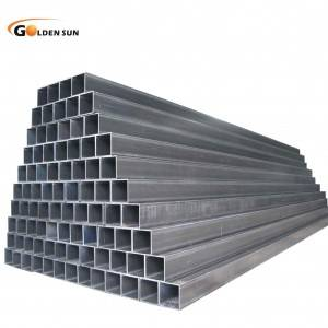 Square steel pipe square hollow sections black ms erw rectangular steel tubes for construction