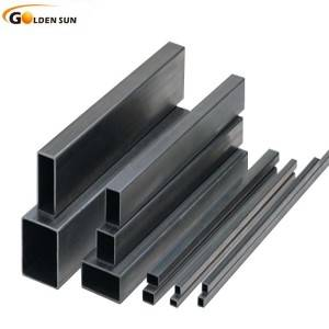 Hollow square carbon steel tube/Black pipe price