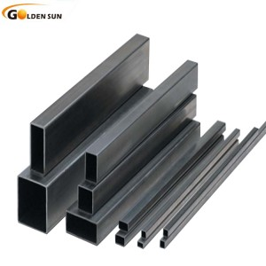 Ms Erw Black square Hollow Section Steel Pipe/tubes rhs/shs