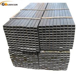 Welded black carbon square/rectangular hollow section steel pipe and tubes in China