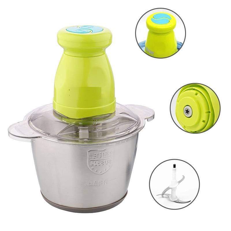 304 Stainless Steel Cup Body Food Chopper Mixer No. Bc012 Featured Image
