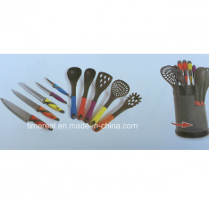 Stainless Steel Kitchen Knives Set with Painting No. Fj-0028
