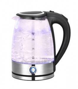OEM Stable High Borosilicate Glass Electrical Kettle, Healthy Environmental Electric Glass Water Pot