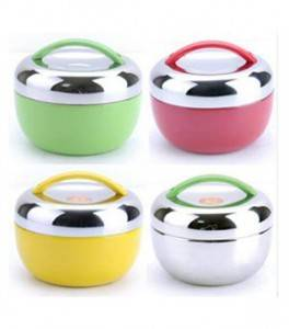 Apple Shape Multi Color Stainless Steel Lunch Box Food Carrier
