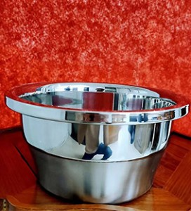 Stainless Steel Basin Kitchen Soup Basin And Vegetable Wash Basin Set