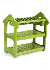 Colorful ABS Kitchen Dish Drainer Rack 3 Layers Dr16-Hcs