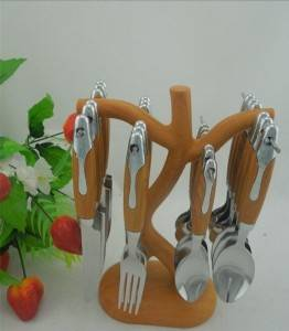 Stainless Steel Cutlery Set with Colorful Plastic Handle No. CT24-B01