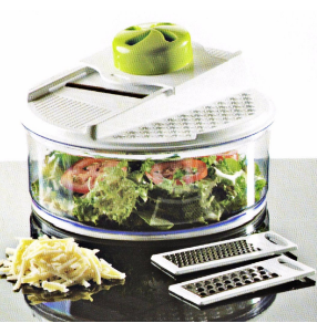 3 in 1 Plastic Food Processor Vegetable Chopper Cutting Machine with Steel Parts No. Cg020
