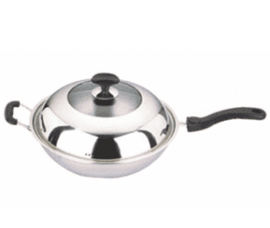 Home Appliance Stainless Steel Cooking Pan Cookware Frying Pan with Long Handle Fp010