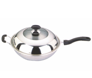 Stainless Steel Cooking Pan Cookware Frying Pan with Long Handle Fp010 Featured Image