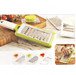 Home Appliance Plastic Vegetable Chopper Grater with Steel Parts with Three Blades No. Cg003