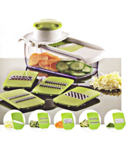 5 in 1 Plastic Vegetable Chopper Grater with Steel Parts No. Cg005