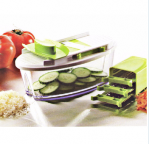 4 in 1 Home Appliance Plastic Food Processor Vegetable Chopper Cutting Machine with Steel Parts No. Cg015