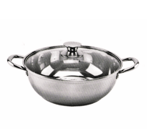Stainless Steel Two Flavor Round Pot with Cover HP011