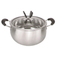 Husholdningernes rustfrit stål Gryder Set Cooking Pot Cp006