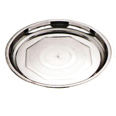 Stainless Steel Kitchenware Round Tray with Decorative Pattern Sp022