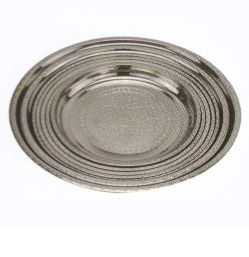 Stainless Steel Kitchenware Round Tray with Decorative Pattern Sp027