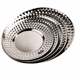 Stainless Steel Kitchenware Oval Tray in Round Design Sp029
