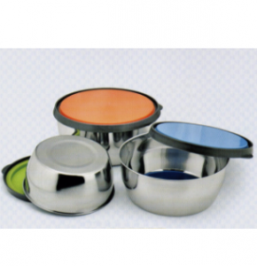 3PCS Stainless Steel Food Box Carrier
