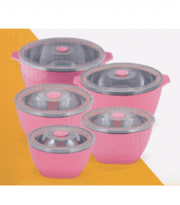 5PCS Color Stainless Steel Food Box Carrier