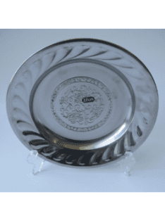 Stainless Steel Kitchenware Round Tray in Grape Design St001