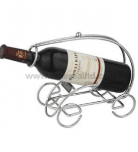 Iron Wine Stand Rack with Plating No. Wr004