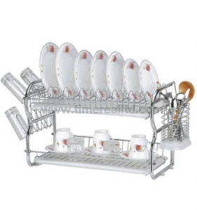 2 Layers Metal Wire Kitchen Dish Rack No. Dr16-Bb