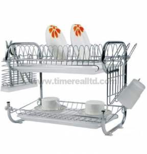 2 Layers Metal Wire Kitchen Dish Rack No. Dr16-9b