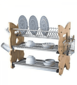 3 Layers Kitchen Metal Wire Dish Drainer Rack