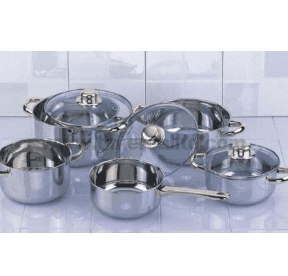 Stainless Steel Cookware Set Cooking Pot Casserole Frying Pan S105