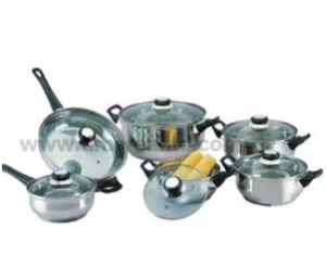 Stainless Steel 12PCS Cookware Set S103