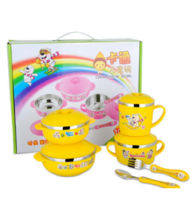Gift Stainless Steel Children Dinnerware Sets 10PCS