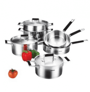 Stainless Steel Cookware Set Cooking Pot Casserole Frying Pan S117