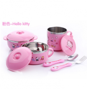 Stainless Hello Kitty Dinnerware Set