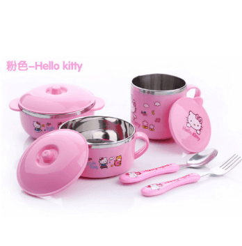 Stainless Steel Hello Kitty Dinnerware Set Featured Image