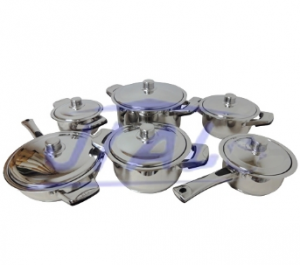 Stainless Steel 12PCS Cookware Set S112
